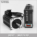 750W 3A AC Servo Motor 3000RPM Single-Phase 80ST-M02430 AC Servo Motor + Servo Motor Driver.