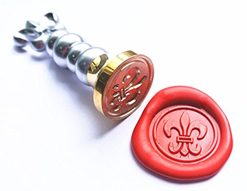 New Luxury Vintage Silver French Fleur De Lis Wax Seal Sealing Stamp Arts Crafts Invitation Lable In Stamps From Home Garden On Aliexpress