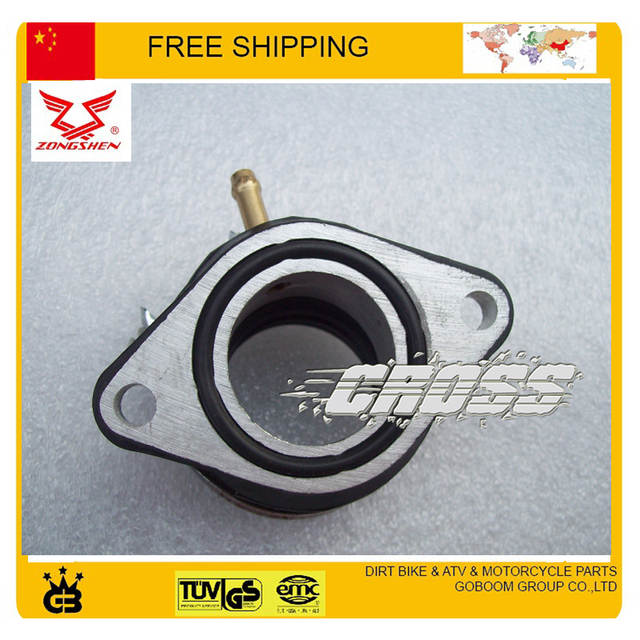 US $15 99 |dirt bike spare parts Intake pipe Manifold connecting inlet Pipe  ZS200GY 2 200cc motorcycle zongshen engine parts free shipping-in Intake