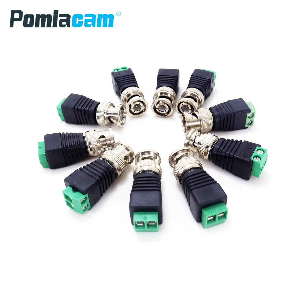 B-G2 20pcs/lot Coaxial Coax CAT5 BNC Male Connector For CCTV Camera Security System Surveillance camera Accessories ...