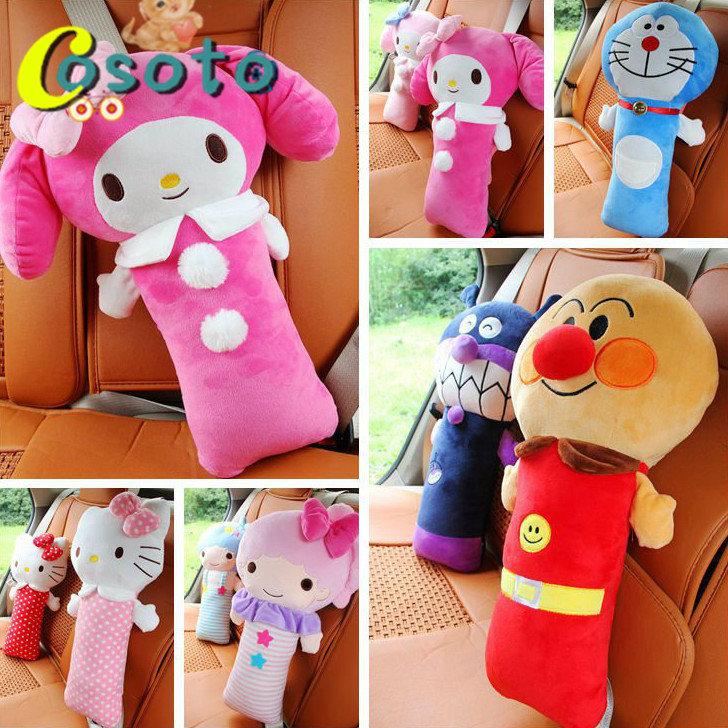 Cute Melody Gemini Anpanman child car seat belt shoulder pad sets gifts for children