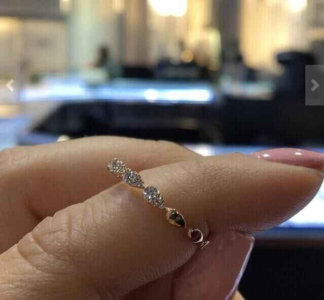 หญิงขนาดเล็ก Drop แหวนหมั้นน่ารัก Gold Love งานแต่งงานเครื่องประดับสัญญา Zircon แหวนหินสำหรับผู้หญิง