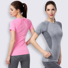 Female Yoga Clothes T shirt Running Shirt Bodybuilding Clothing Women Fitness Sports Quick Dry Tops Jogging