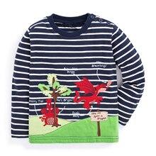 Children T-shirt Boys Clothes 2017 Brand Baby Boys Tops & Tees with Animal Appliques Kids Long Sleeve Sweatshirt Boys T shirts