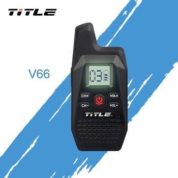 TITLE X-V66TFSI Mini Portable Walkie Talkie Ham Two-Way Radio Transceiver UHF 400-480MHz with USB Power Supply Earpieces