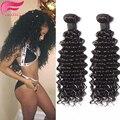 Curly Virgin Hair Brazilian Deep Wave Human Hair Brazilian Virgin Hair Weave Bundles 3pcs Deep Culry Virgin Hair