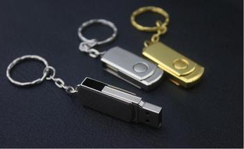 USB Disk 4GB 8GB 16G 32G Stainless Steel Usb Flash Drive Metal Rotate usb Memory Pen 64gb 128gb