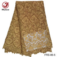 African Lace Fabric Gold Guipure Lace Fabric Handmade Guipure Lace Fabric White Wholesale Lace Fabric For