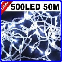 50M 500 LED 9 Colors Garden Xmas Navidad Fairy String Decoration Outdoor Garland LED Christmas Wedding New Year Light CN C 35