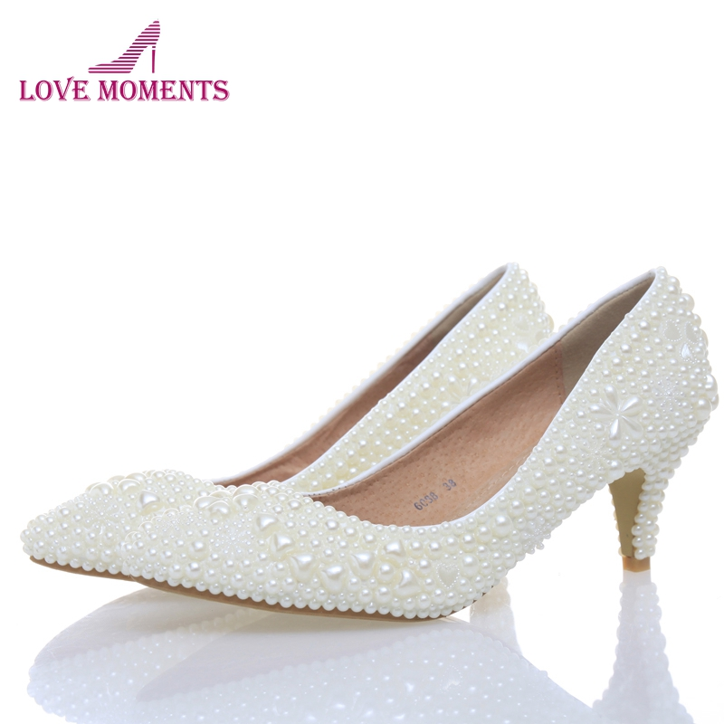 Luxury sexy lady wedding shoes Wedding Bridesmaid Shoes Party Shoes Comfortable med heel bridal shoes for woman honeymoon