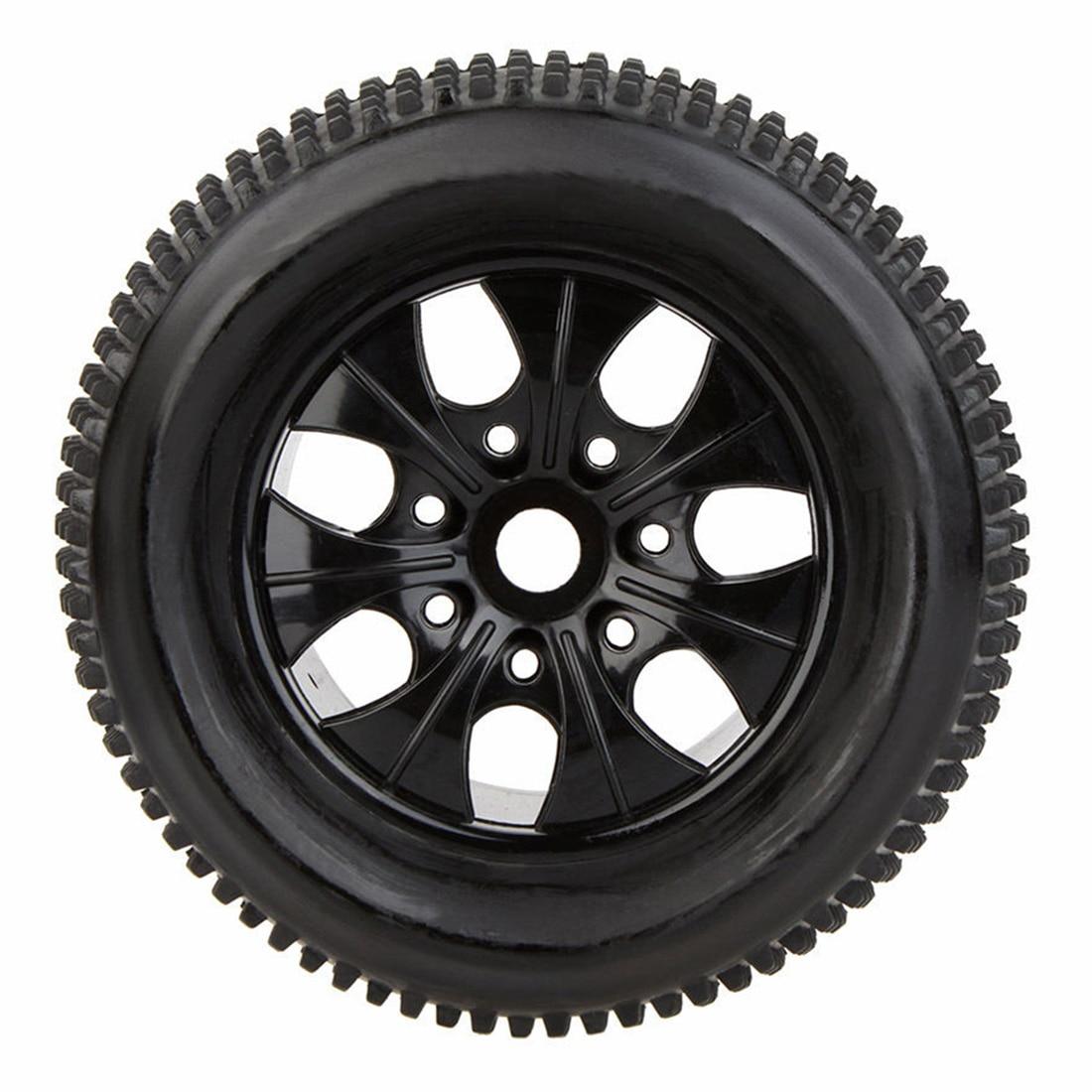 2Pcs RC 1/8 Truck Car Wheel Rim and Tire 810011 fr Traxxas HSP Tamiya HPI RC Car