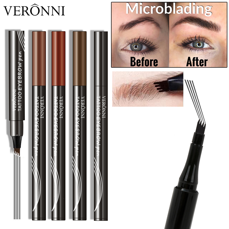 US $2 41 31% OFF Tattoo Studio Brow Tint Pen Makeup Long Lasting Waterproof  Natural Eyebrow Tattoo Pen (4 Colors Available)-in Eyebrow Enhancers from