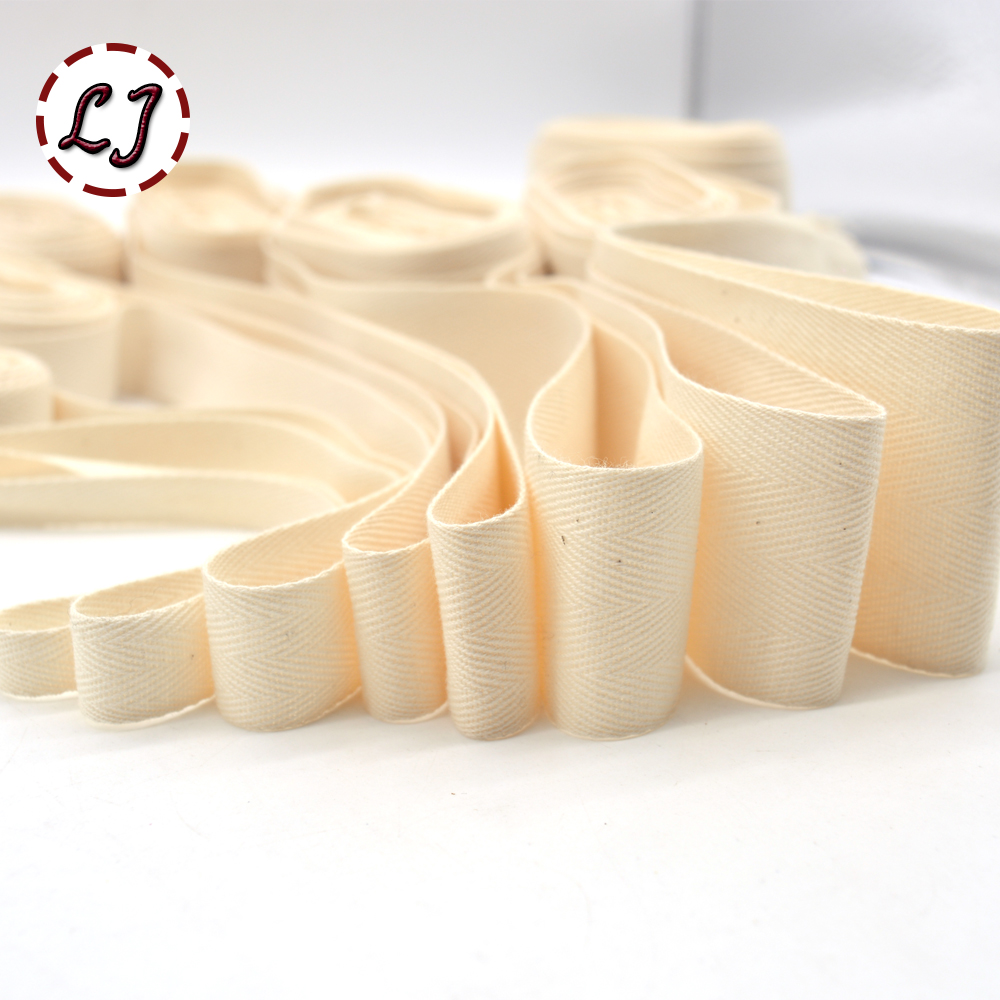 New high quality natural chevron 100% cotton ribbon webbing herring bonebinding tape lace trimming for packing accessories DIY