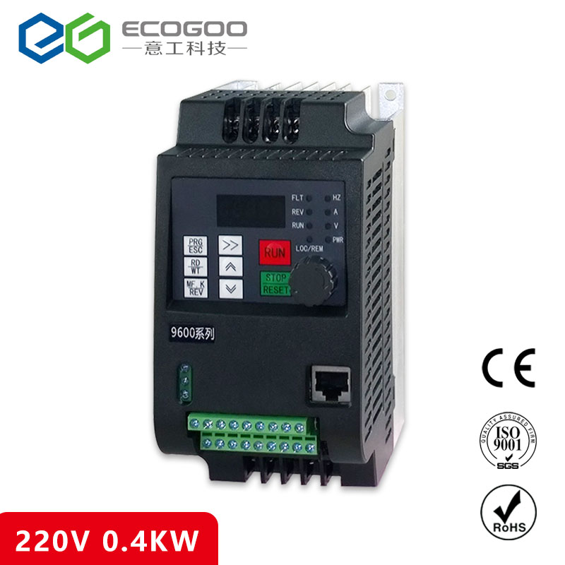 цена на 0.4KW inverter VFD 220V VARIABLE FREQUENCY DRIVE INVERTER 1 phase input 3 phase 220V output china cheap wholesale