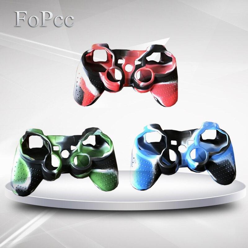 Мягкий силиконовый чехол для геймпада, камуфляжный силиконовый чехол для контроллера PS3, джойстик, армейская защита, гелевая Резина case for case for ps3 controllercase case   АлиЭкспресс