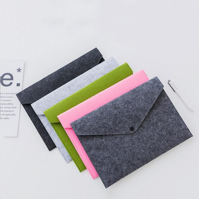 Simple Big Capacity A4 File Folder Pad Business Briefcase Document Bag Chemical Felt Filing Stationery Supplies