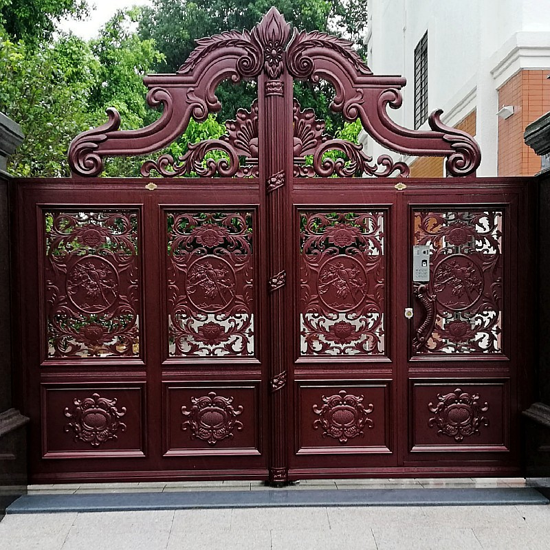 Aluminum Indian House Main Gate Designs Hc-a9
