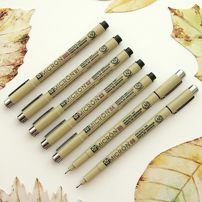 7pcs set Sakura Pigma Micron Pen Needle drawing Pen Lot 005 01 02 03 04 05