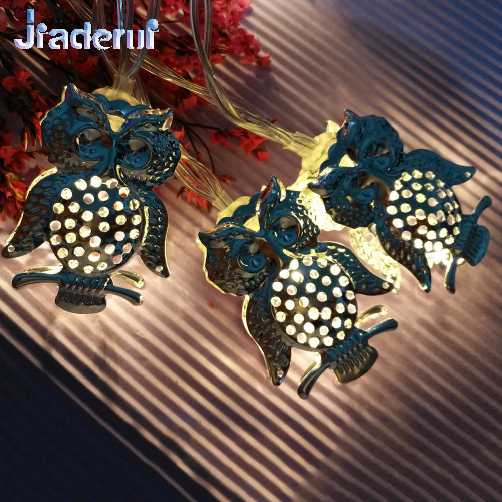 10LED 20LED Christmas Tree Decor Lights Iron Owl Shape String Fairy Lights Wedding Party Home Decor Garland Lamp Battery Powered fairy tree beach scenery wall decor tapestry