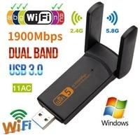 802.11AC Dual Band USB Wifi Adapter 1900Mbps 20dBm WiFI 5ghz Adapter WiFi Dongle RTL8814 Wi fi Receiver Wireless Network Card
