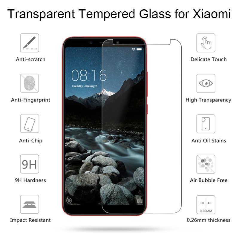 9 שעתי מזג זכוכית עבור שיאו mi mi A1 A2 8 לייט מסך מגן סרט זכוכית לשיאו mi Xio mi אדום mi הערה 6 5 פרו 5A 6A PocoPhone F1