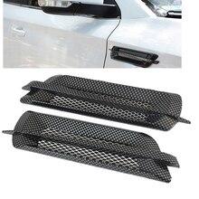 2 шт. Универсальный ABS автомобильный боковой вентиляционный клапан крыло крышка отверстие впускной канал поток решетка украшения стикер для BMW Mercedes Audi Honda