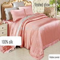 Free Shipping Wholesale solid color 100% pure Silk Duvet Cover 19mm 100% seamless