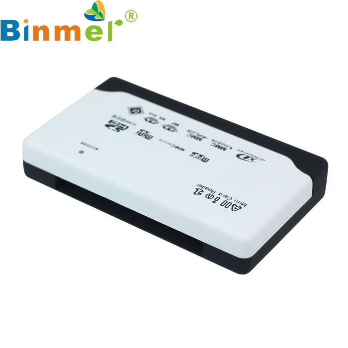 New White USB 2.0 Card Reader for SD XD MMC MS CF SDHC TF Micro SD M2 Adapter Oct24 56 in 1 usb 2 0 sdhc sd mmc rs mmc xd ms m2 tf card reader with usb cable black
