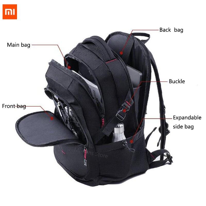 Xiaomi UREVO 25L large capacity men's backpack men's 15inch computer bag waterproof travel bag multi function backpack bag-in Bags from Consumer Electronics    1