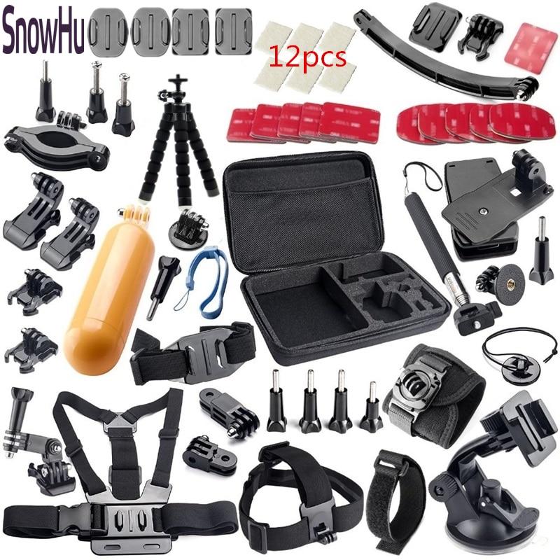 Snowhu para GoPro Hero 5 accesorios para ir kit Kit de montaje sj4000 sj500 Hero 4 3 + 2 sjcam xiaomiyi cámara negro Edition tz33