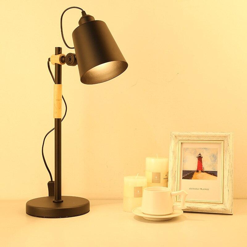 En gros moderne bureau travail lampe étude bureau lampe enfants Table lampe en bois Art schéma lampe lecture verre kitap abajour bureau
