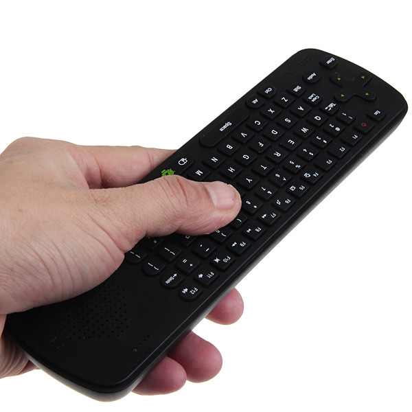 Measy RC13 4-IN-1 Smart 2.4GHz Air Mouse+Wireless Keyboard + Skype Phone + Speaker Combo Android OS -Black