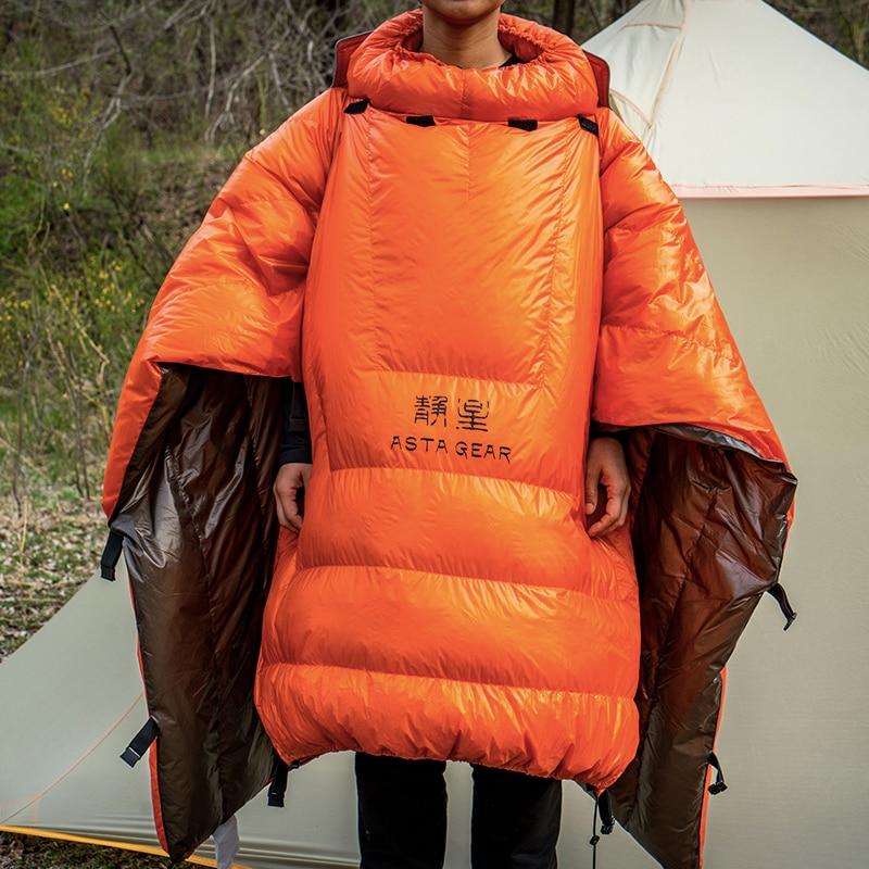 ASTAGEAR WearableOutdoor Down Sleeping Bag Sleeping Bag Camping Ultralight Full Body Sleeping Bags with Compression Sack
