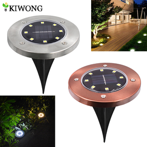 Solar Powered Ground Lights 8 leds Buried Security Lighting Outdoor Garden Waterproof Lamp For Yard Deck Floor Decoration(China)