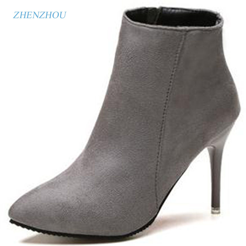 zhen zhou 2017 winter women's new fashion trend leadership High fashion and ankle boots High fashion and ankle boots zipper dominic mulenga mukuka christian leadership and management