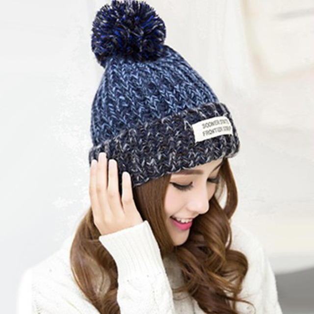 7af03f4c486d6 2017 sombrero de invierno de las mujeres moda de lana gorro de lana para  las mujeres