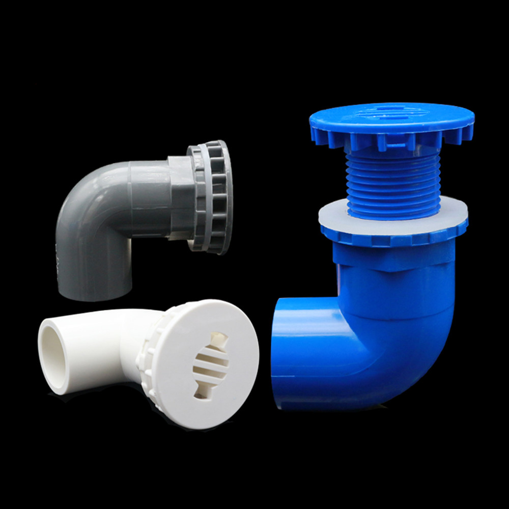 Inner Dia. 20/25mm 90 Degree Fish Tank Elbow Drainage Joint Aquarium Glass Water Tank Drain Connector Drain Pipes Connectors