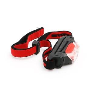 Image 5 - Mini Head Lamp 4 Modes Waterproof 1*XPE White+2*LED Red Flashlight Headlight Headlamp Torch Lanterna with Headband Use AA