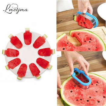 LMETJMA DIY Watermelon Popsicle Model Stainless Steel Watermelon Slicer Melon Cutter Kids Hand Craft Manual Model Ice Maker форма для нарезки арбуза