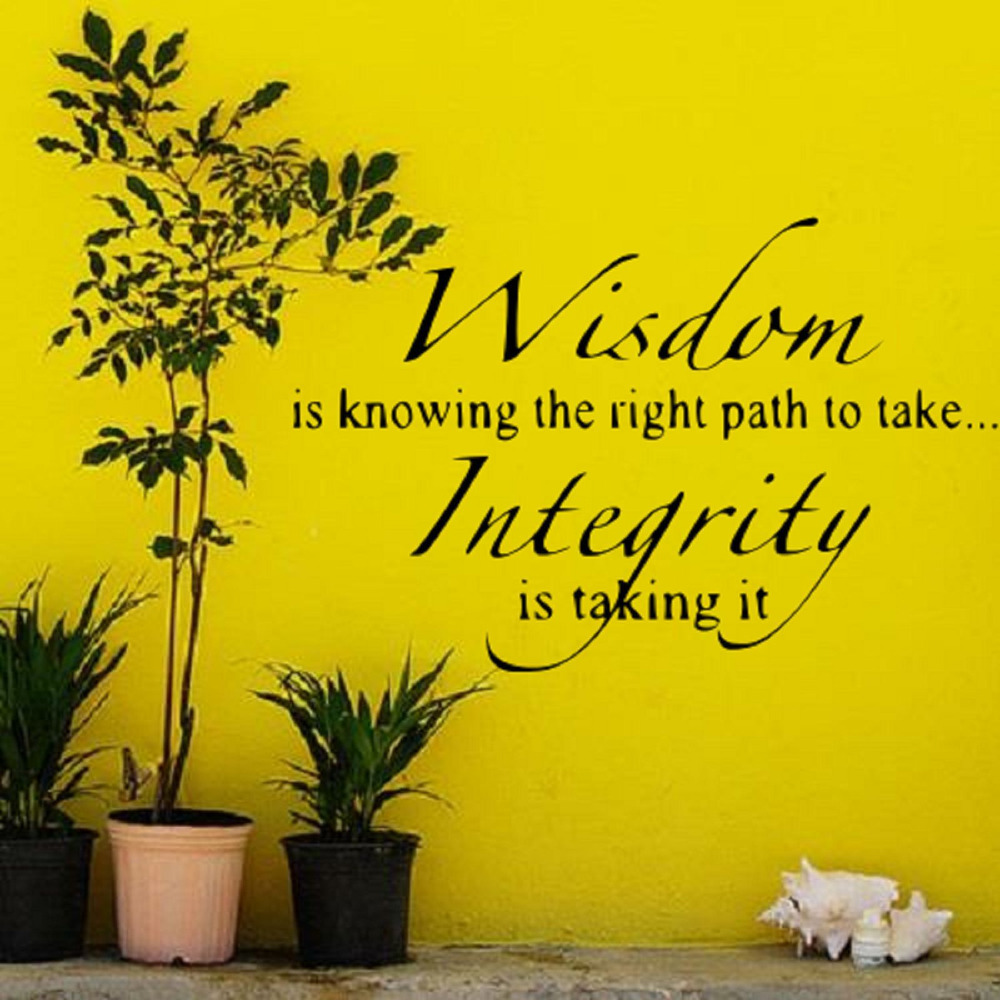 Wisdom is knowing what path to take vinyl lettering wall quotes home ...