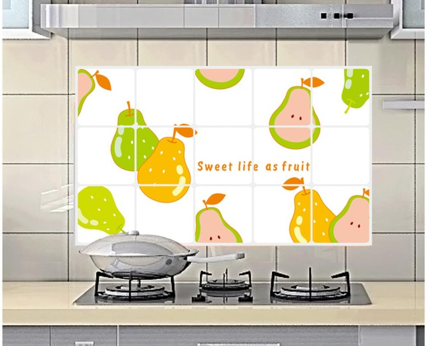 Removable Pear Fruit Design Kitchen Waterproof And Oil Proof Decorative  Stickers Home Decor Kitchen Tiles Wall Stickers 3010 In Wall Stickers From  Home ...
