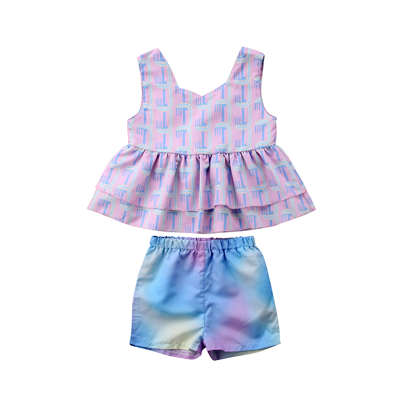 Midbeauty Party At My Crib Summer Baby Sleeveless Romper One-Piece Bodysuit Jumpsuit Outfits