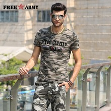 Designer Summer Tshirt Men's Short Sleeve T Shirts Cotton Flag Printing Military Camouflage Tee Shirts Anti-Mosquito Tees Tops