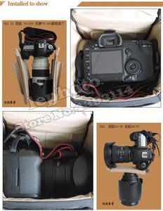 Image 5 - DSLR حقيبة كاميرا حقيبة يد عدسة المقربة الحقيبة مقاوم للماء متعددة الوظائف لكانون نيكون سوني 70 200 مللي متر 2.8 ، 80 400 100 400 مللي متر