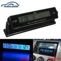 12 V voltaje automático Monitor Digital despertador de la batería reloj temperatura LCD termómetro