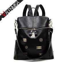 Valenmisa БРЕНД Знак натуральная кожа рюкзак женские большой Рюкзаки для подростков Обувь для девочек повседневные Рюкзак Школьные сумки доллар цена