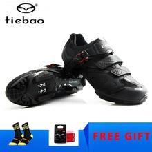Велосипедная обувь Tiebao черный мужской велосипед горный велосипед обувь Нескользящая самоблокирующаяся суперзвезда mtb обувь Sapatos кроссовки Ciclismo