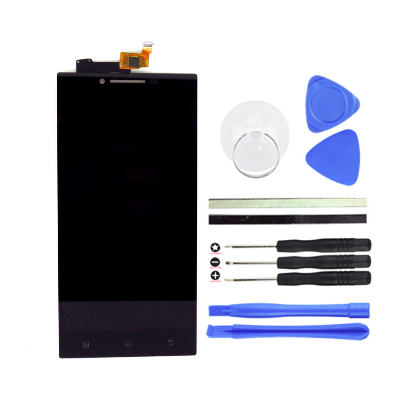Top Quality 5inch LCD Display Touch Screen Digitizer Assembly Replacement For Lenovo P70 P70-T Cell Phone Parts +Free Tools high quality 5 3 for lenovo s898 s898t lcd display touch screen digitizer assembly replacement tools free shipping