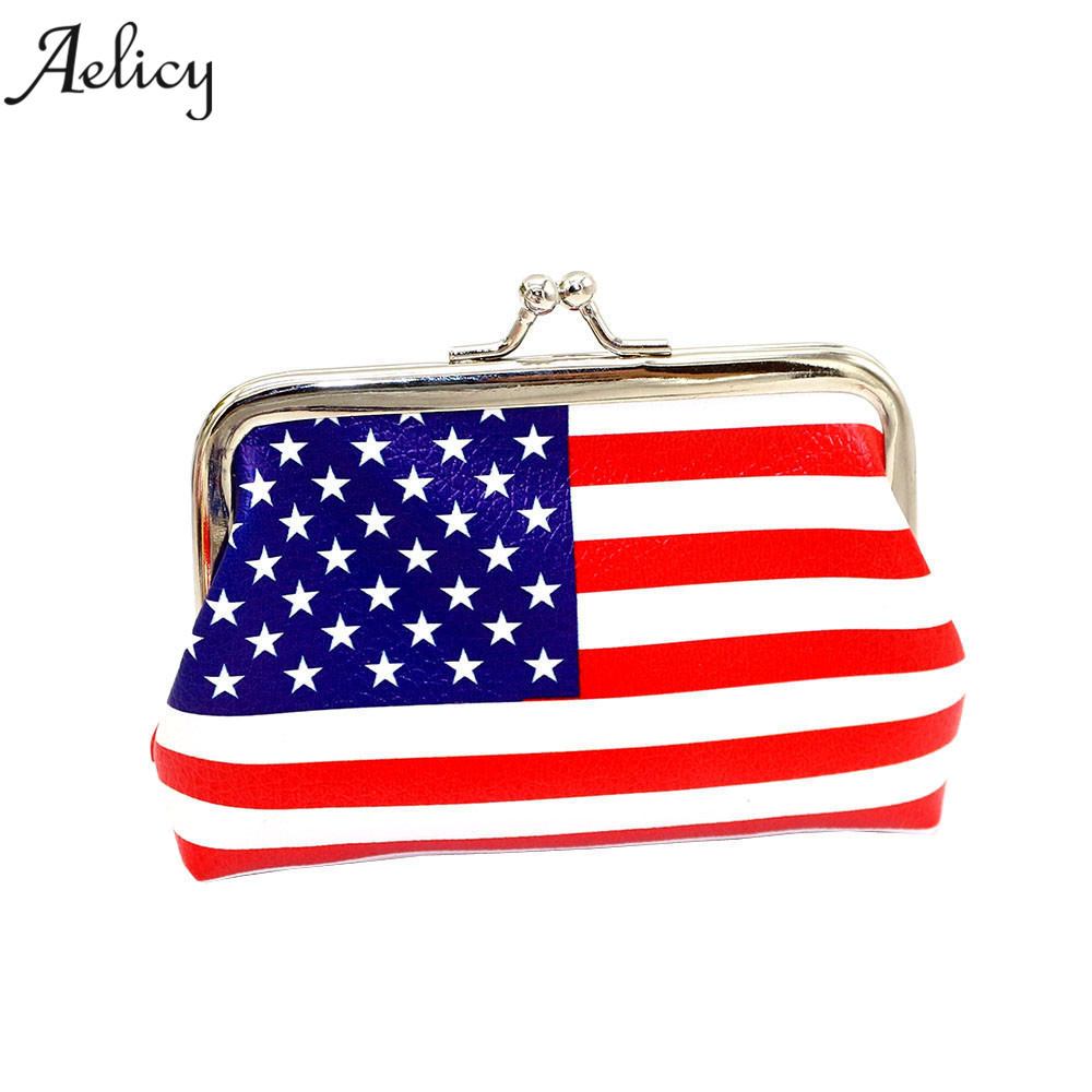 Aelicy Leather Coin Purse Mini Lady Fresh Flag Small Wallet Hasp Purse Womens Wallets and Purses Fashion Women Clutch Purse