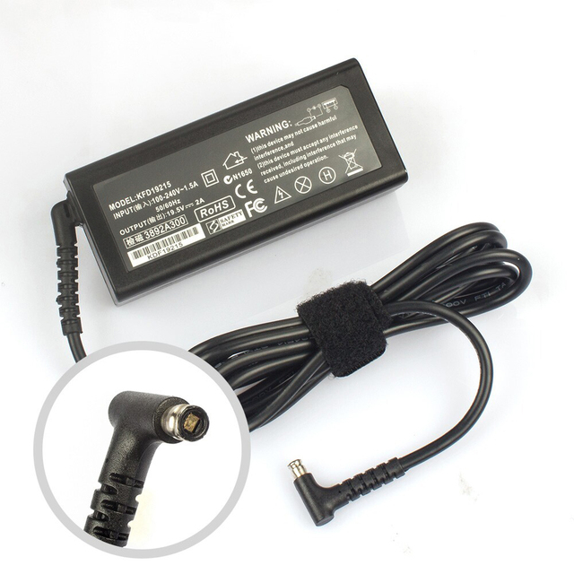 Tablet Charger for Sony Vaio TAP 11 ADP-45DE B VGP-AC19V74 SVT11219 Vaio Fit 13A F13N F11A + power cord cable